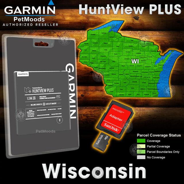 Garmin Hunt View Plus Map Card Wisconsin Birdseye 24k Topo Huntview