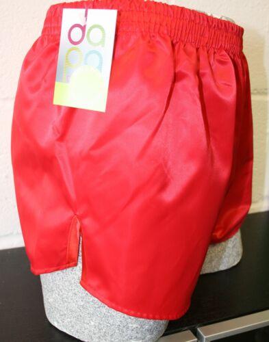 Retro PU Nylon Football Shorts S to 4XL Red Black