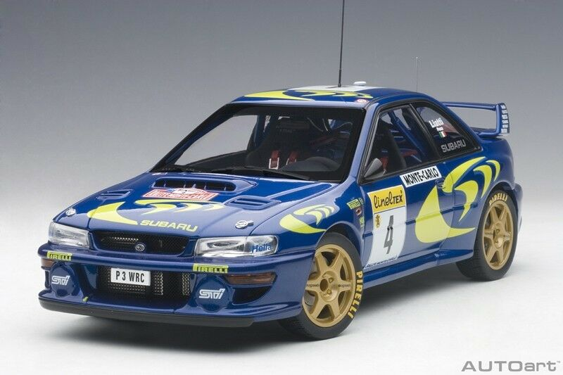 Autoart Subaru Impreza WRC 1997 #4 Liatti/Fabriziapons Rally Monte Carlo Carlo Carlo 1/18 | Impeccable  f88b49