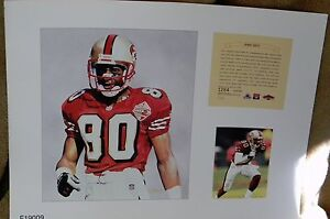 1a5f8b6af9b Jerry Rice San Francisco 49ers NFL11x14 Print Pro Football Hall Of ...