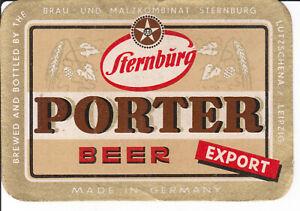 1 Bieretikett Leipzig Lützschena , Sternburg , Porter Beer  DDR