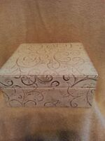 Fossil Ladie's Jewely Box Organizer Cream Leather Holds Watches And Jewely