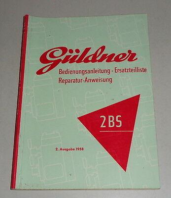 Parts Catalog Tractor Gafoor 2 Bs Stand 07/1958 Motors Frank Operating Instructions