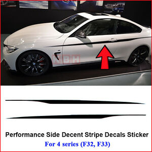 M Performance Side Door Stripes Decals Vinyl Sticker For