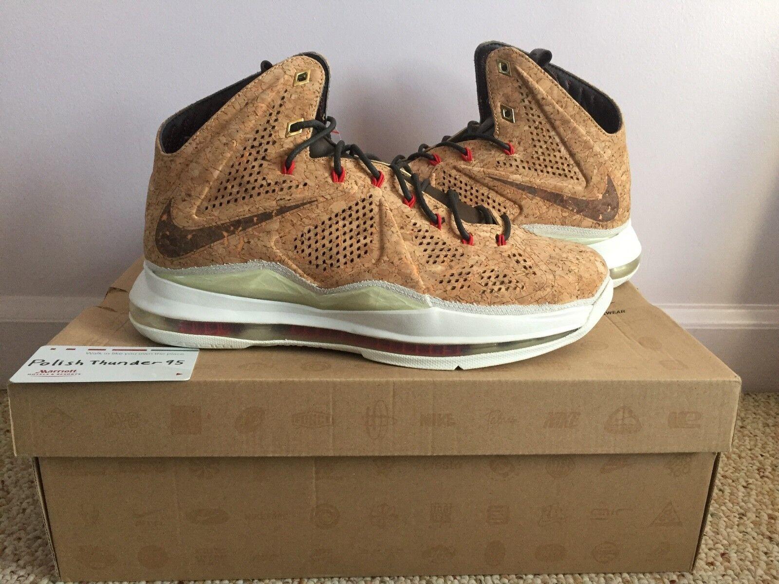 Nike Lebron X 10 EXT Cork QS Size 9