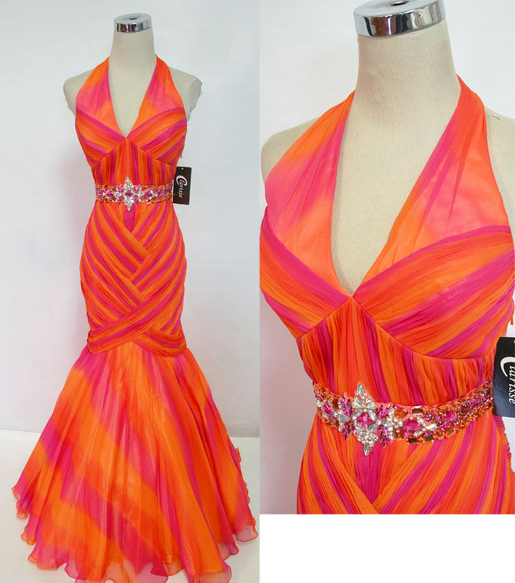 NWT CLARISSE Fuchsia orange Prom Formal Gown 4