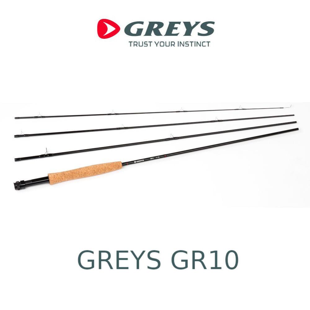 Canna da pesca a mosca Greys GR10 rod in carbonio per treda torrente 4 sezioni
