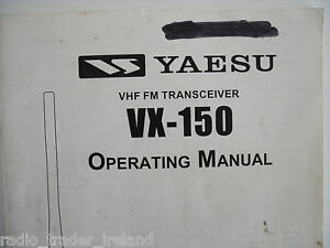 Yaesu vx 150 fm radio transceiver one pair of 2 meter fm.