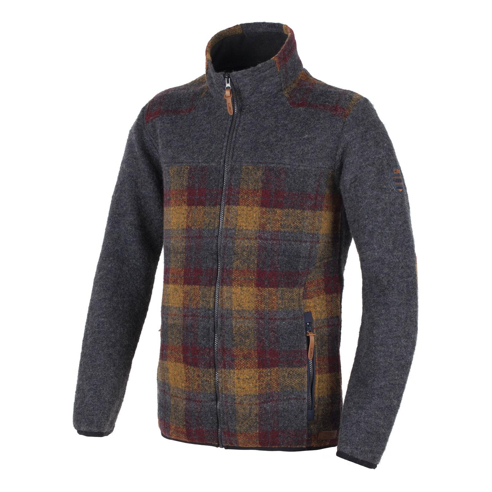 CMP Maglia giacca transizione giacca lana Marroneee collo termoisolante