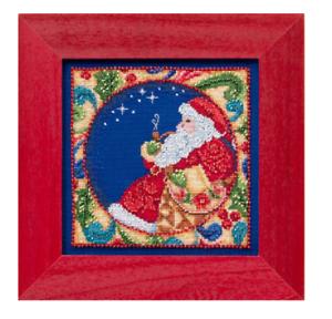 MILL-HILL-Counted-Cross-Stitch-Beads-Kit-JIM-SHORE-Christmas-Santa