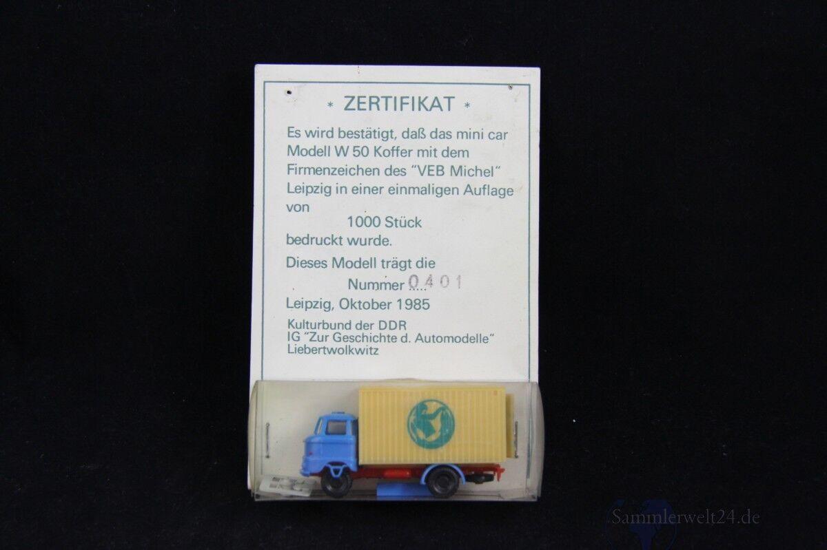 1985 RDA Modèle 1  85 Mini Car W 50 avec impression SPÉCIAL ÉDITION 1000 Pièces