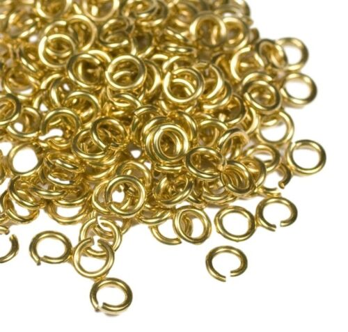RED BRASS JUMP RING 20 GA WIRE 6 MM O//D 200 P 1//2 OZ SAW CUT