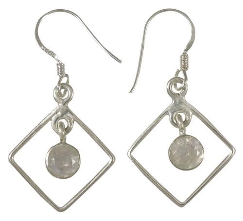Moonstone 925 Sterling Silver Gemstone Earring Wedding Women Jewelry-SJE-48A