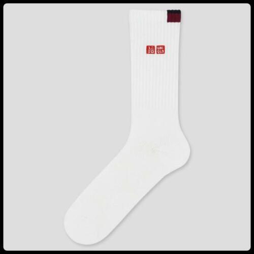 UNIQLO × Roger Federer//Tennis socks//2020 AustralianOPEN model//White//