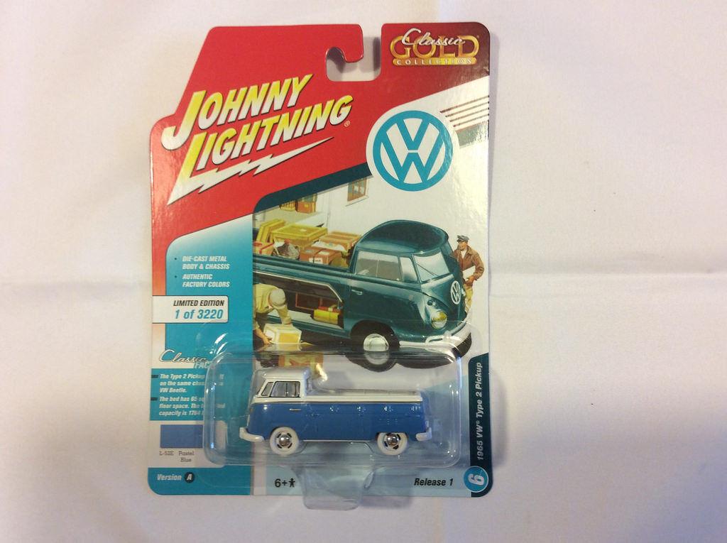 Johnny Lightning jlcg 013 Clásico oro ver un 1965 VW tipo 2 Pickup biancao Chase