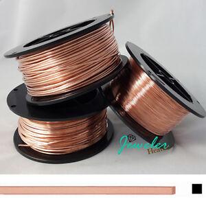 99 9 Pure Copper Wire Square Dead Soft Gauge 10 12 14 16