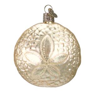 034-Sand-Dollar-034-12156-X-Old-World-Christmas-Glass-Ornament-w-OWC-Box