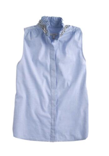 J. Crew Tilda Chambray Rhinestone Shirt 6 Mint!