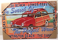 California Surf In Search Of The Perfect Wave Wooden Wall Sign Huntington Beach