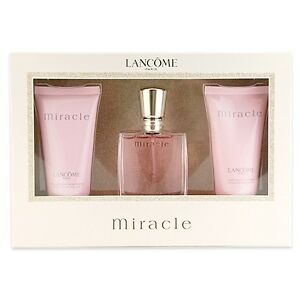 1 Set LANCOME Miracle Eau de Parfum Gift 3pcs Kit Fragrance Gifts ...
