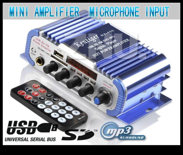 12v 2ch Mini Mp3 Car Home Audio Stereo Speaker HIFI ...