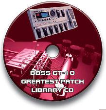 BOSS GT-10 PRE-IMPOSTATO TOPPE CHITARRA EFFETTI PEDALI CD