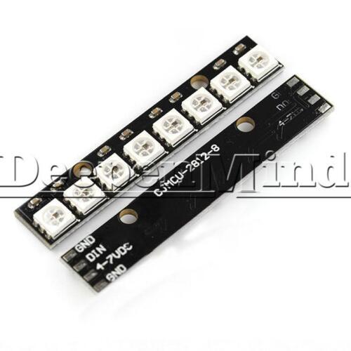 8-Bit WS2812 5050 RGB LED Lamp Panel Black Board Rainbow LED Precise for Arduino