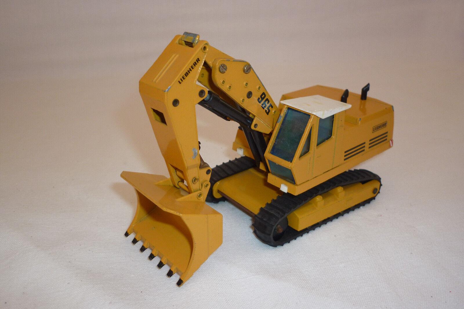 Gescha - Metal Model - Liebherr 965 - Crawler Excavator - (1.DIV-38)