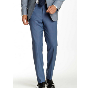 Blue Plat Pantalon Vif Hugo Boss 1 42r Carreaux 42w Devant Mini Slim RTaq6waxZ