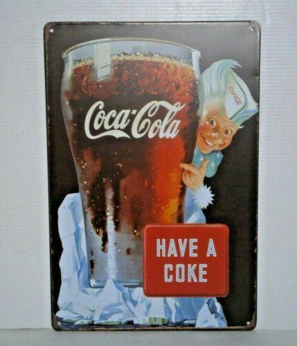 CCRMS5 Collectable Coca-Cola Retro Metal Sign 30 cm H x 20 cm W