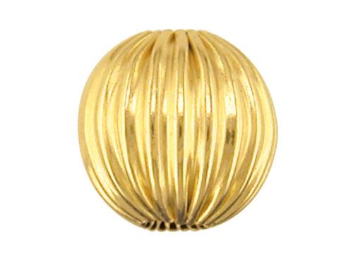 9ct Gold Corrugated Round bead 2.9mm for scrap maybe bent damaged broken bullion