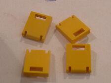 Lego 4 portes jaunes de coffres 6597 1772 5890 6375 / 4 yellow door container