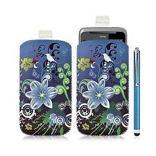 Housse coque étui pochette pour HTC Desire Z avec motif HF09 + Stylet luxe