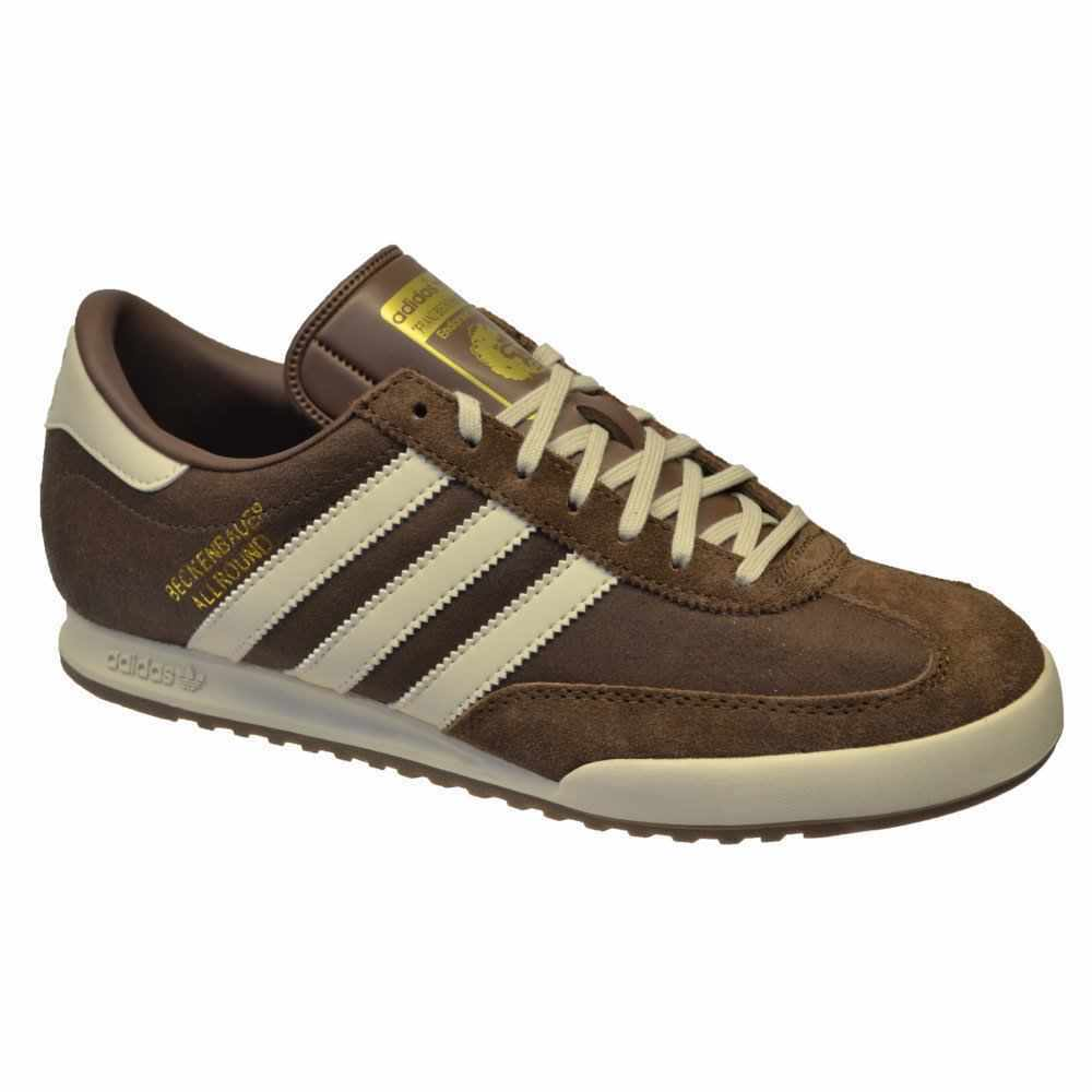 ADIDAS ORIGINALS BECKENBAUER ALLROUND  Uomo Marrone Pelle Da Uomo UK