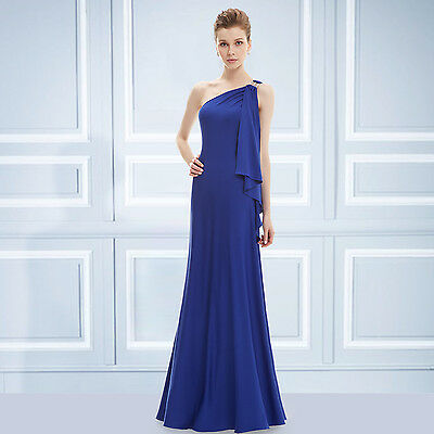 Ever Pretty UK Women One Shoulder Long Evening Party Cocktail Prom Dresses 09463