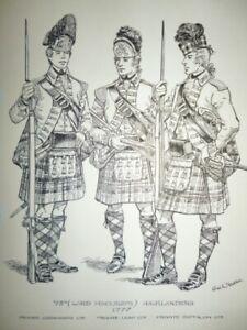 Original-Indian-Ink-study-73rd-Highlanders-1777-by-Charles-C-Stadden