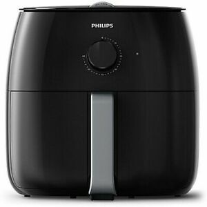 New Philips Premium Twin TurboStar Airfryer XXL, Black/Silver - HD9630/96