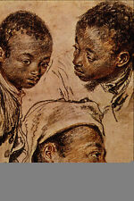 A3 Box Canvas 501061 Three Negro Boys Jean Antoine Watteau