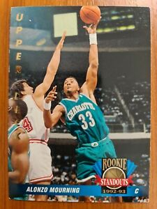 Carte Collection 🏀 basketball Upper Deck 1992 93 #56 Alonzo Mourning Hornets