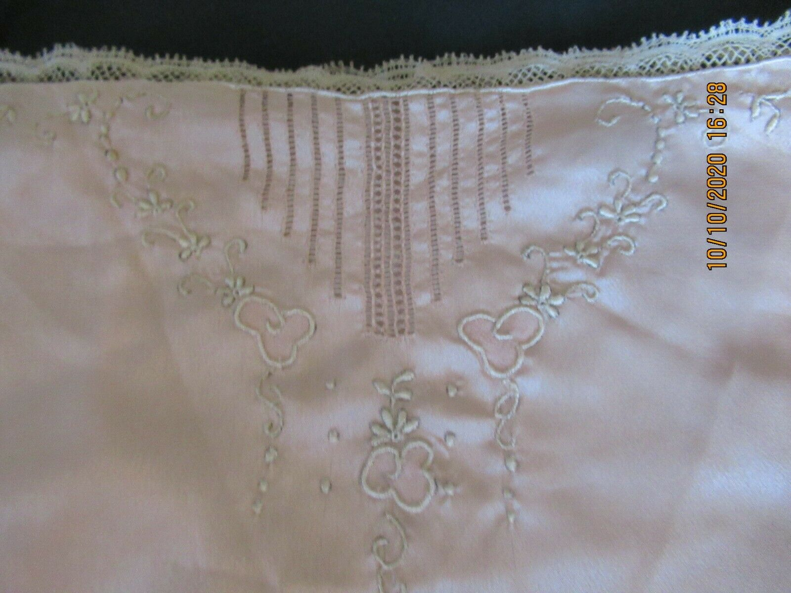 Antique Edwardian Camisole Teddy Embroidered Lace  - image 3