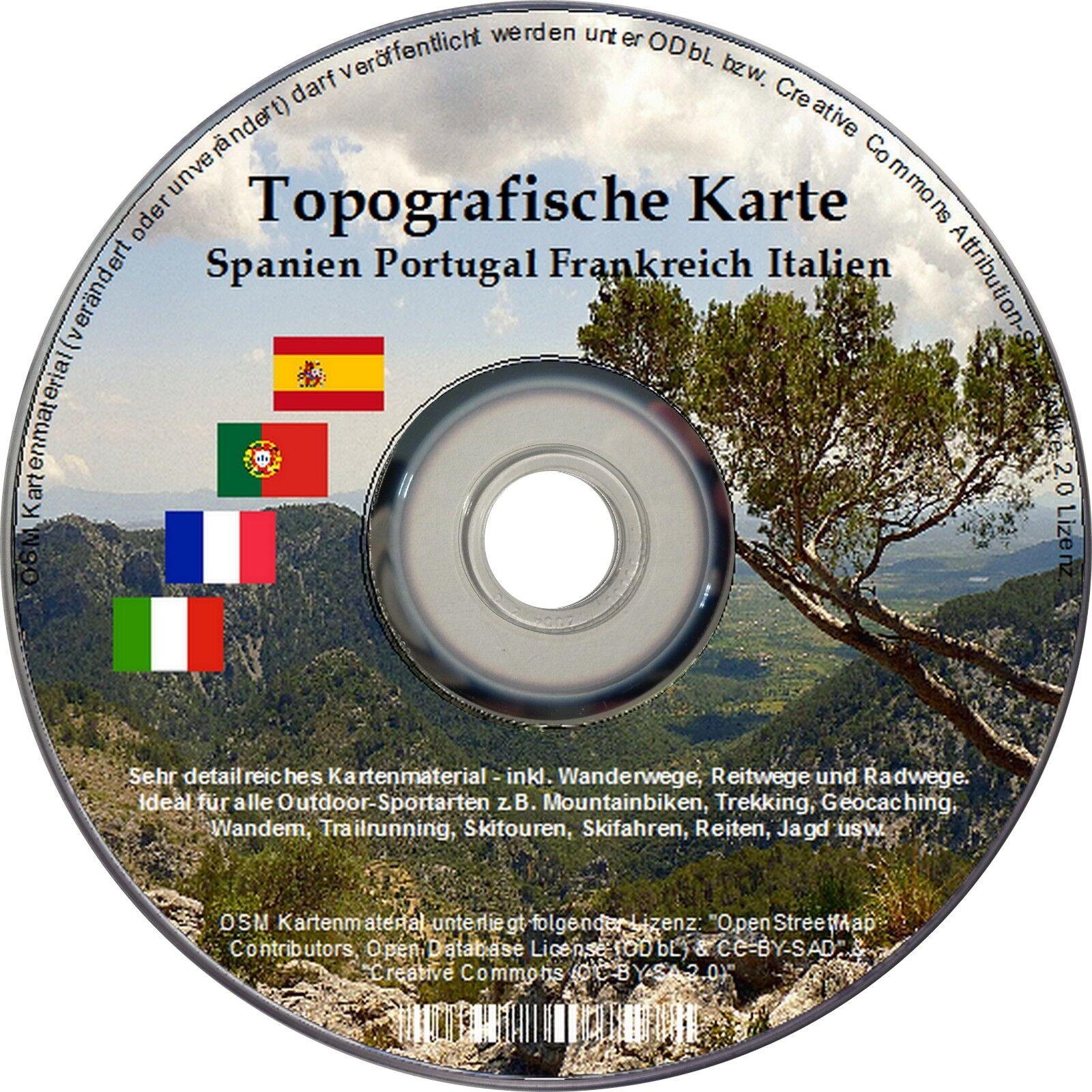 Topographique Topo Carte Carte Carte Garmin France Portugal Espagne Italie IGN be7c36