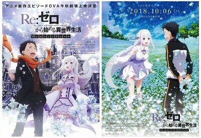 Re Zero Movie Flyer mini poster japan anime 2018 rem2
