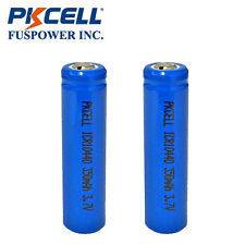 2x AAA ICR 10440 Rechargeable Lithium Li-ion Battery 500+ Recycles Botton Top