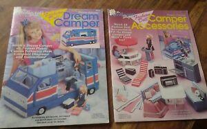 2-Plastic-Canvas-Needlecraft-Shop-Fashion-Doll-Barbie-Dream-Camper-amp-Accessories