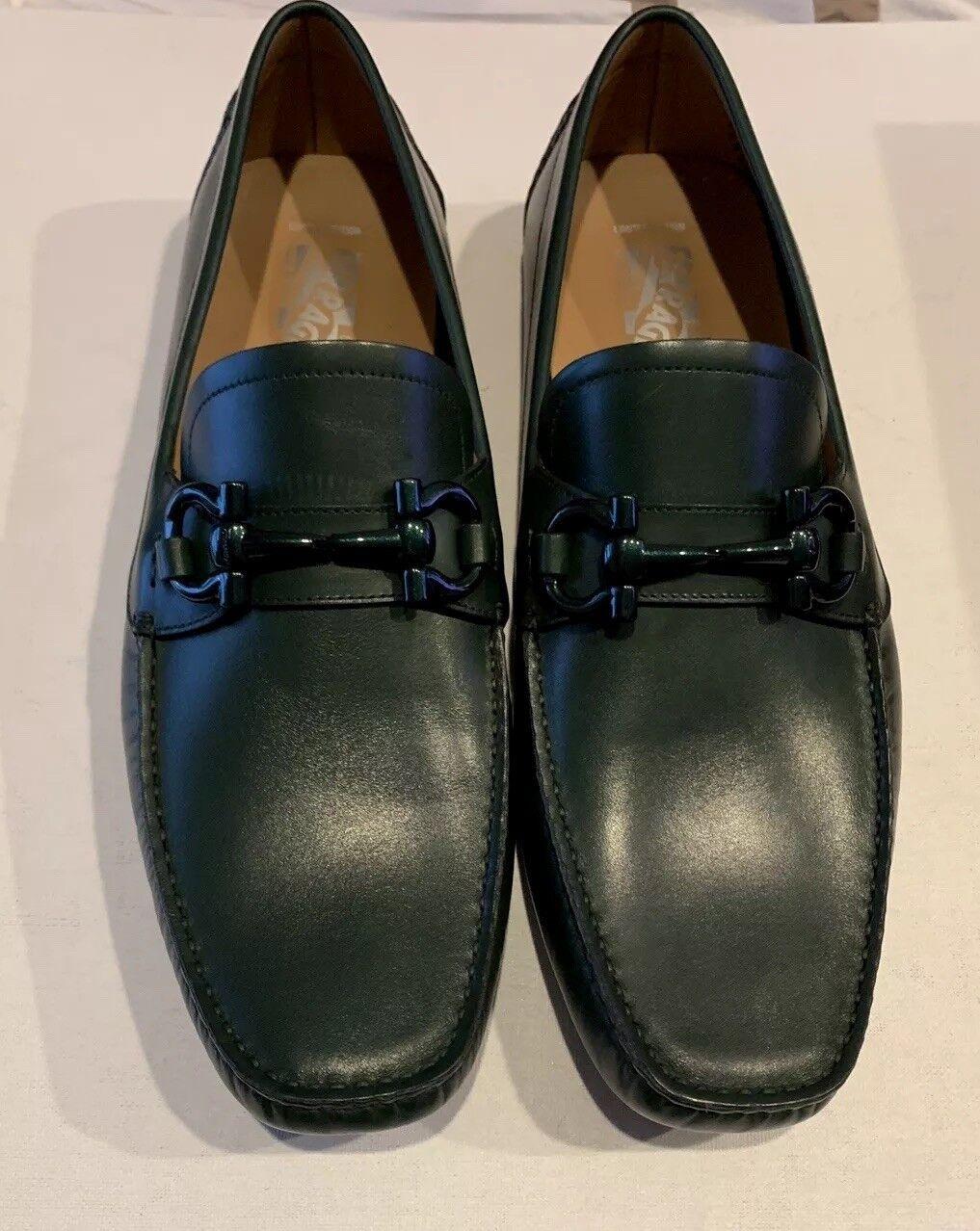 Salvatore Ferragamo Mens shoes Parigi Le Límites Edition Dark Green 10.5D