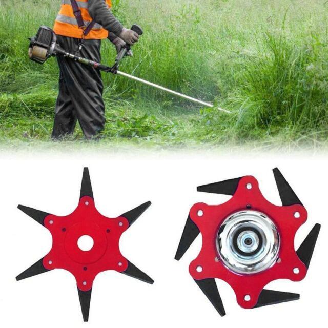 6Steel Blades Razors 65Mn Lawn Mower Grass Eater Trimmer Head Brush Cutter Tools