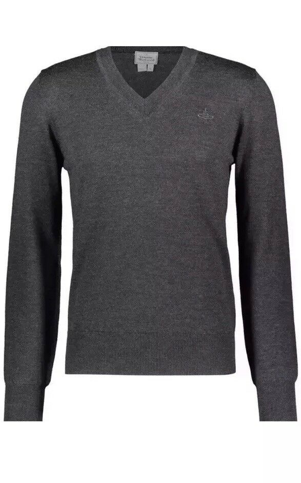 VIVIENNE WESTWOOD  Charcoal Pure Wool Jumper Größe UK XL