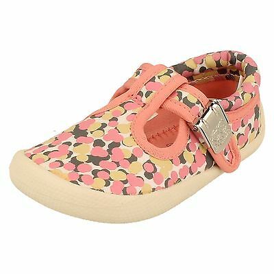 Girls Clarks Canvas Shoes - Choc Cake