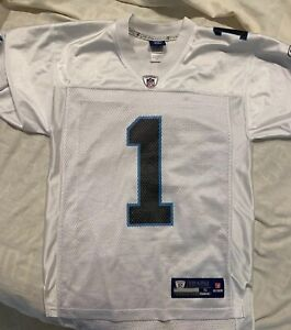 reputable site 36603 0a04f Details about Reebok Authentic Carolina Panthers Cam Newton NFL Jersey -  Size Small, EUC