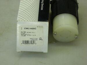 Cooper CWL1420C Twist Lock Connector 120/240 VAC 20A NEMA L14-20R
